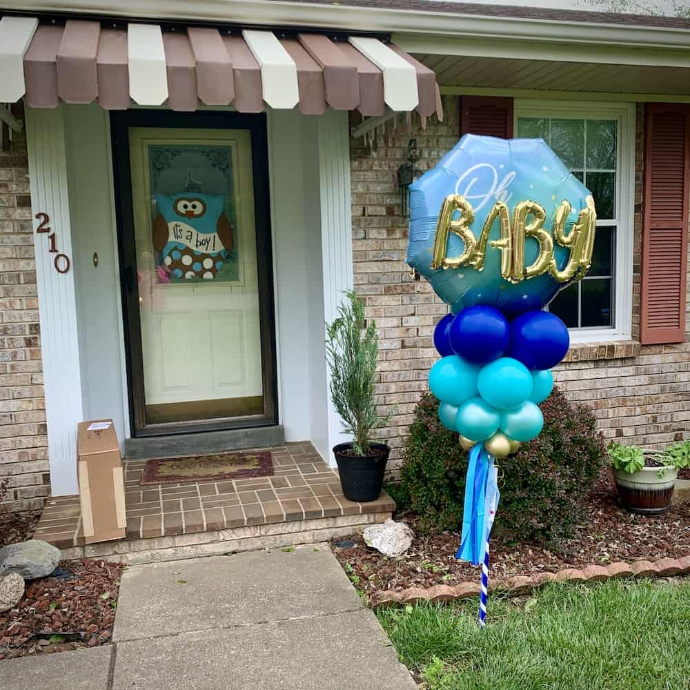 Baby Balloon Deluxe Yard Art Delivery